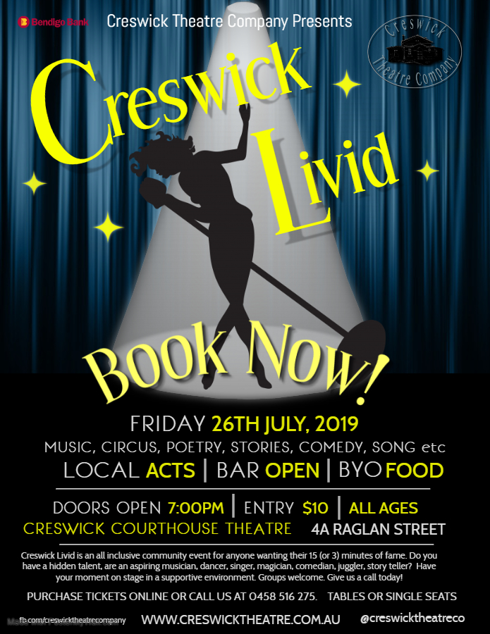 Copy of Creswick Livid Poster – Made with PosterMyWall